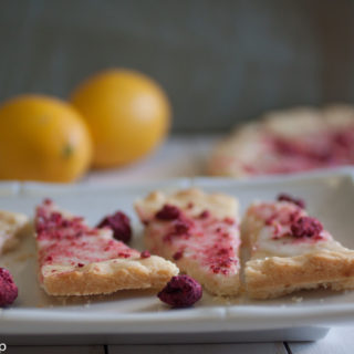 Lemon and Raspberry Shortbread