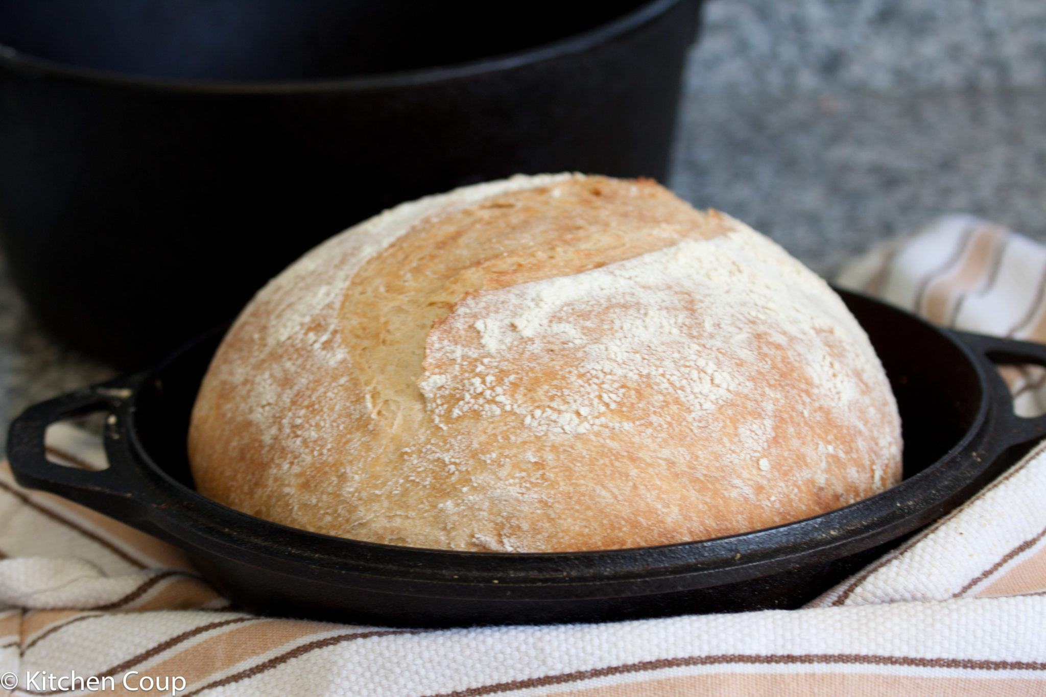 Cast Iron Pot No Knead Bread Kitchen Coup